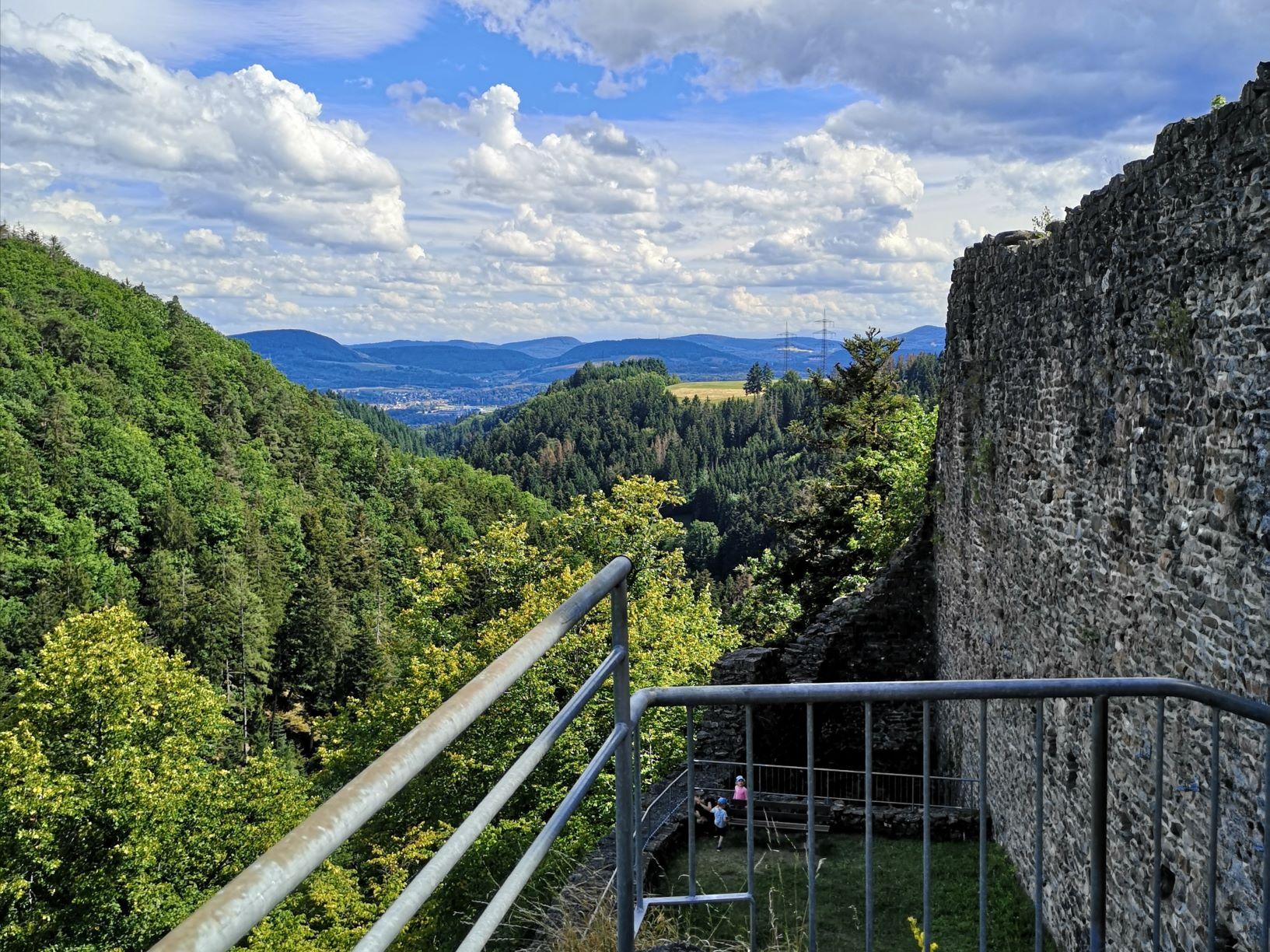 Aussicht, Mittelplateau, Burgruine, Burg,  Wieladingen, Rickenbach, Wandern, Landschaft, Aussicht, Aussichtsturm, Natur, Wald, Berg, Hoch