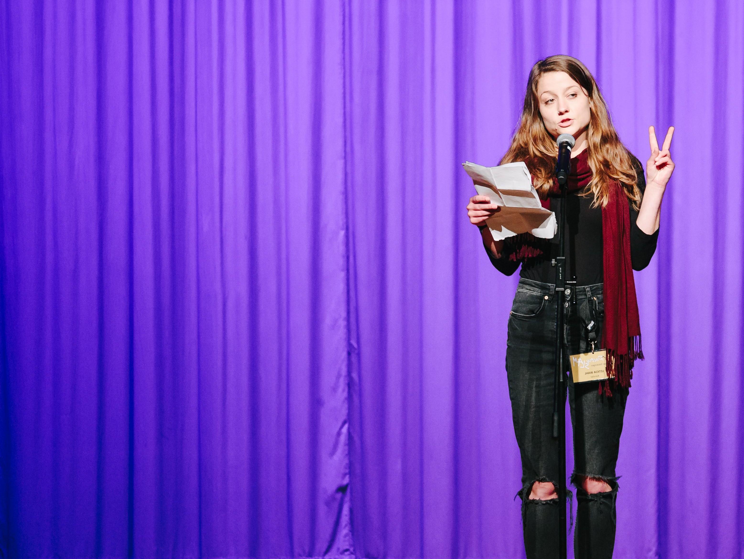 Leticia Wahl auf der Bühne