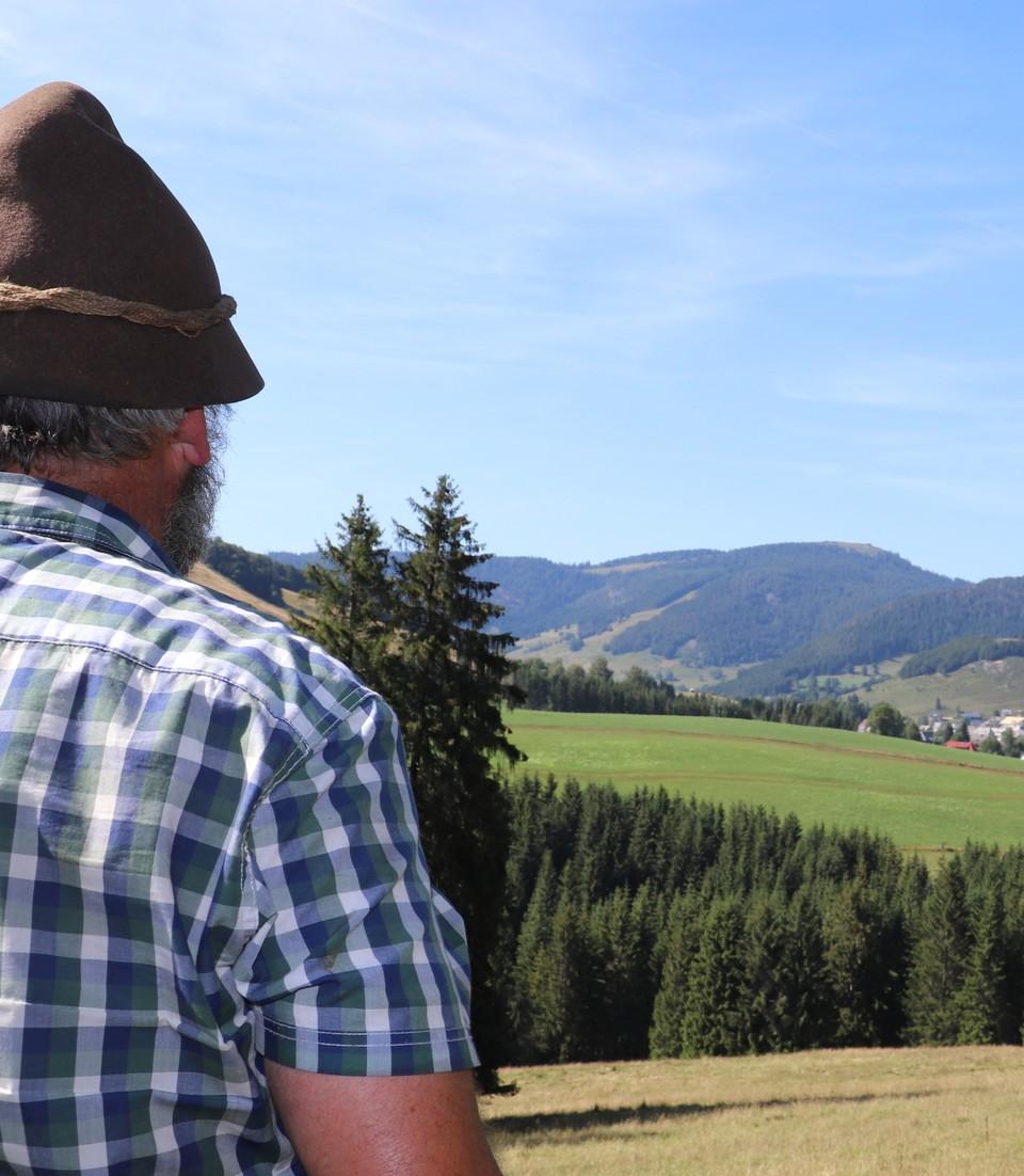 Markus Töpfer schaut auf das Herzogenhorn
