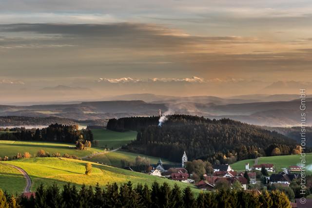 Alpenpanorama bei Hierbach